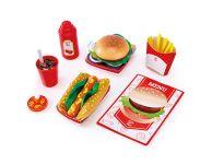 Houten speelgoed fast food set