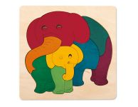 Regenboogpuzzel olifant